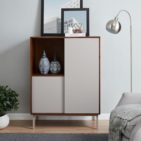 Holly & Martin Hanzi Two-Tone Sliding Door Storage Cabinet