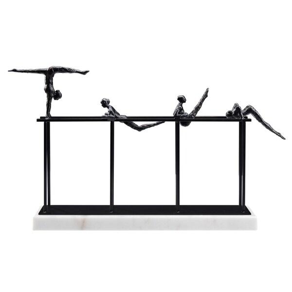 The Nadia Sculpture, Iron & Marble, black