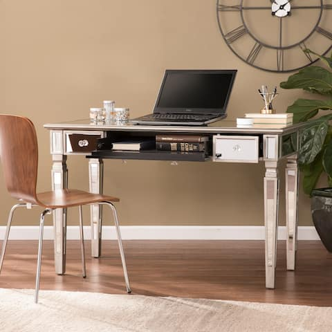 Silver Orchid Wheaton Glam Mirror Writing Desk