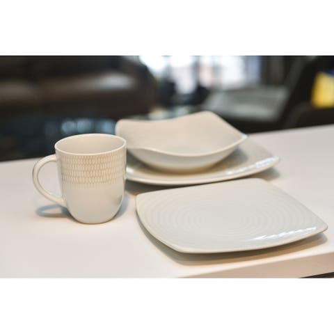 Christopher Knight Collection White Riso 16Pc Dinner Set - N/A
