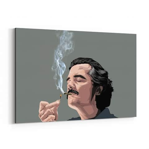 Noir Gallery Pablo Escobar Narcos Drug Lord Canvas Wall Art Print