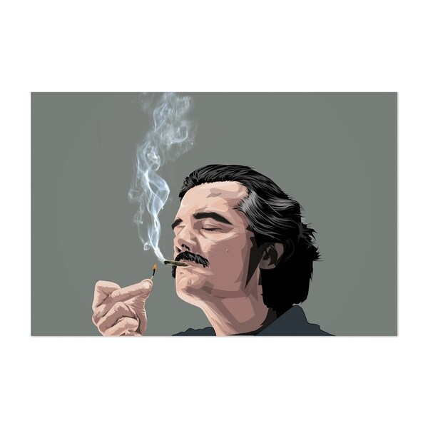 Shop Noir Gallery Pablo Escobar Narcos Drug Lord Unframed
