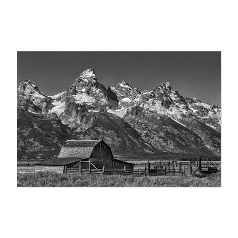 Noir Gallery Moulton Barns Teton Mountains Unframed Art Print/Poster