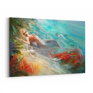 Noir Gallery Mermaid Fantasy Sci Fi Canvas Wall Art Print