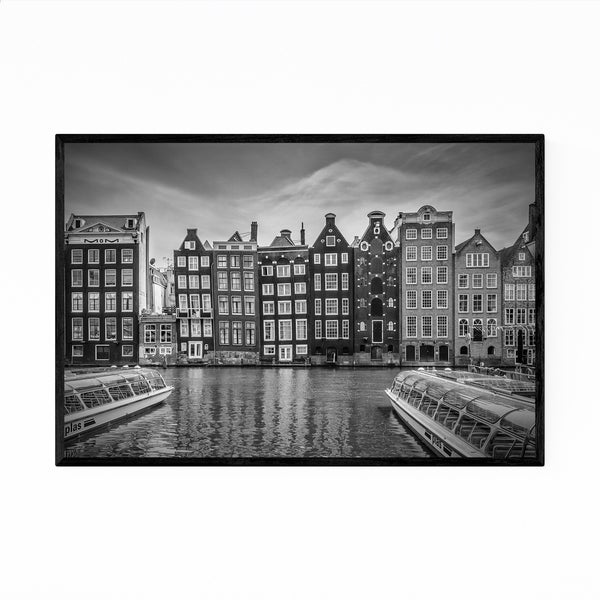Noir Gallery Amsterdam Netherlands Canal Photo Framed Art Print