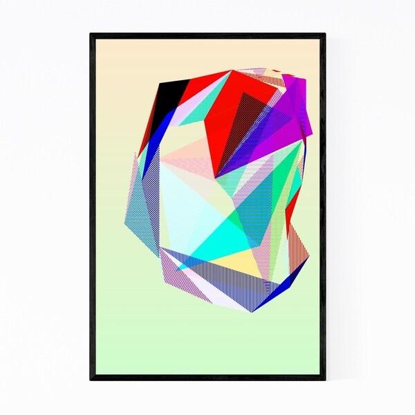 Noir Gallery Abstract Digital Geometric Vaporwave Framed Art Print