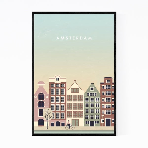Noir Gallery Amsterdam Netherlands Travel Framed Art Print