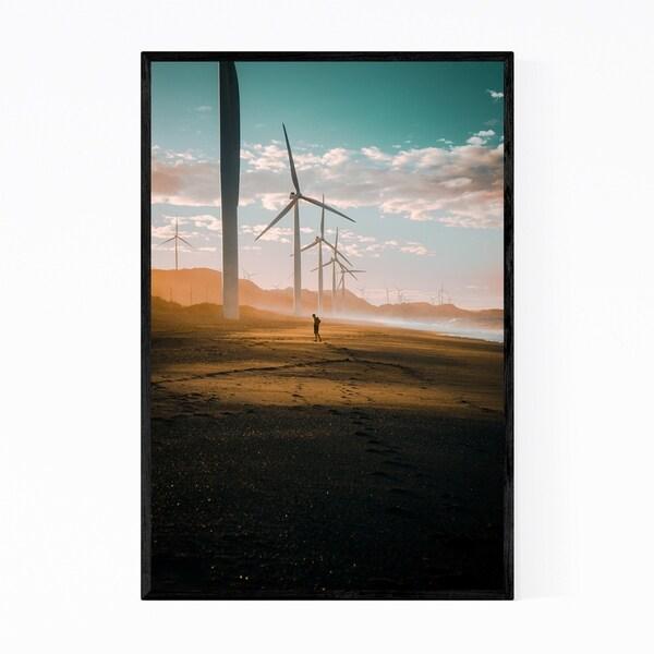 Noir Gallery Philippines Bangui Windmills Framed Art Print