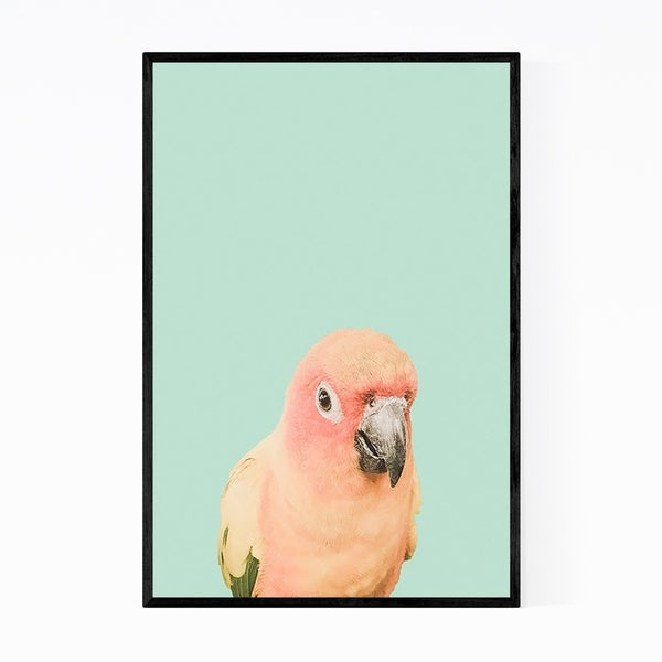 Noir Gallery Tropical Bird Animal Pastels Framed Art Print