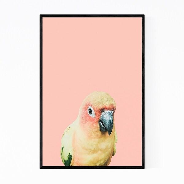 Noir Gallery Tropical Bird Animal Pastels Framed Art Print