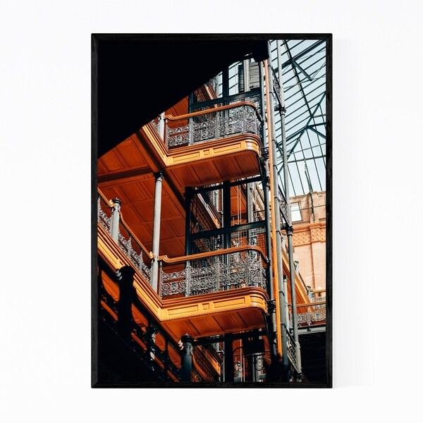 Noir Gallery Los Angeles Bradbury Architecture Framed Art Print