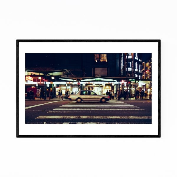 Noir Gallery Kyoto Japan Cityscape Cars Framed Art Print