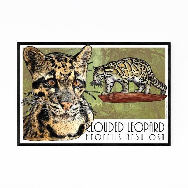 Noir Gallery Leopard Animal Illustration Framed Art Print