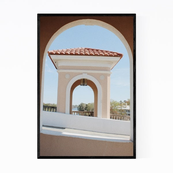 Noir Gallery Myrtle Beach South Carolina Bridge Framed Art Print