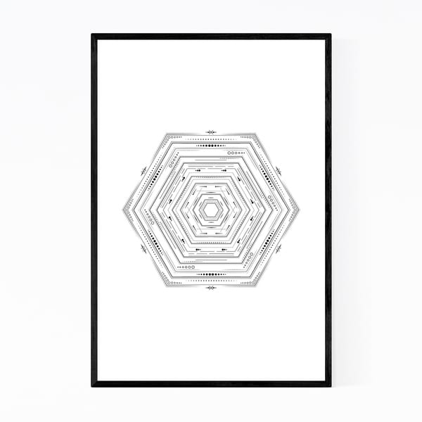 Noir Gallery Abstract Geometric Minimal Framed Art Print