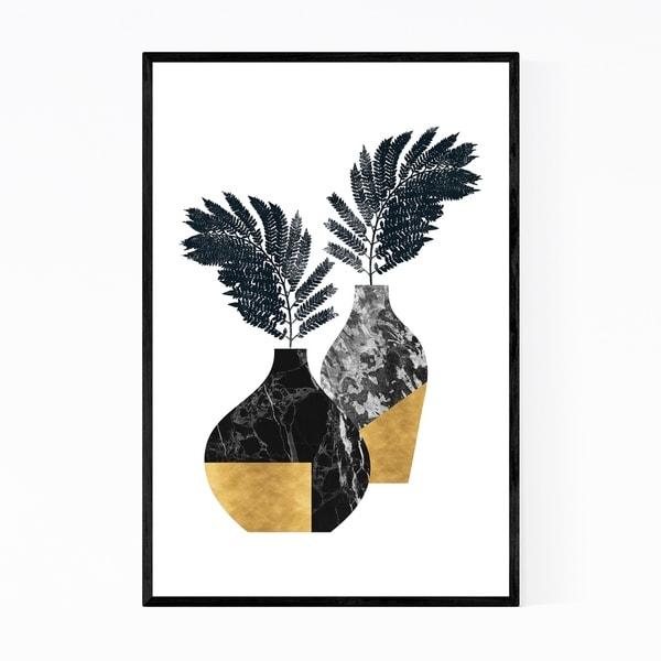 Noir Gallery Fern Floral Botanical Minimal Framed Art Print