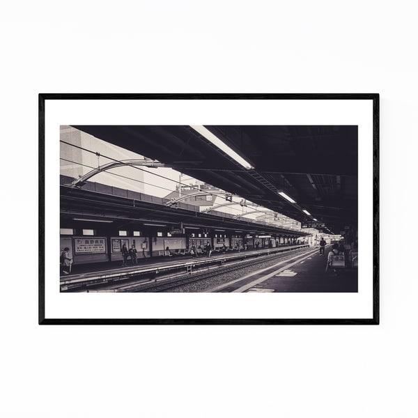 Noir Gallery Osaka Japan Train Station Framed Art Print