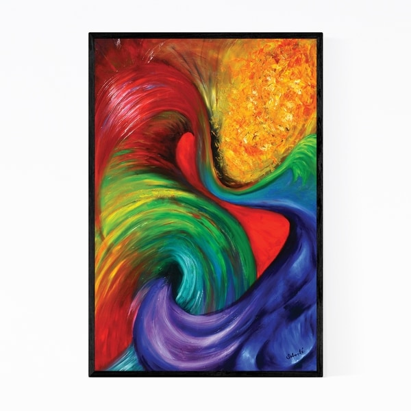 Noir Gallery Abstract Oil Canvas Print Framed Art Print