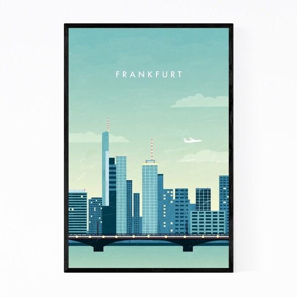 Noir Gallery Frankfurt Germany Vintage Travel Framed Art Print