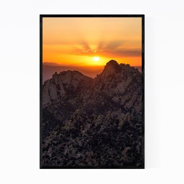 Noir Gallery Dragoon Mountains Arizona Photo Framed Art Print