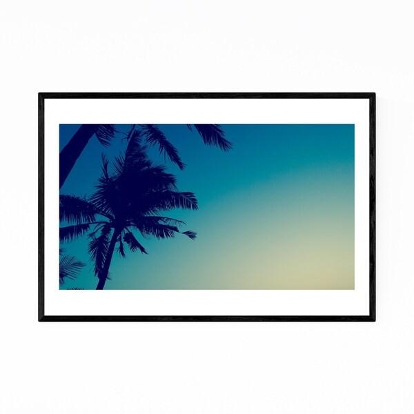 Noir Gallery Mumbai India Palm Trees Abstract Framed Art Print