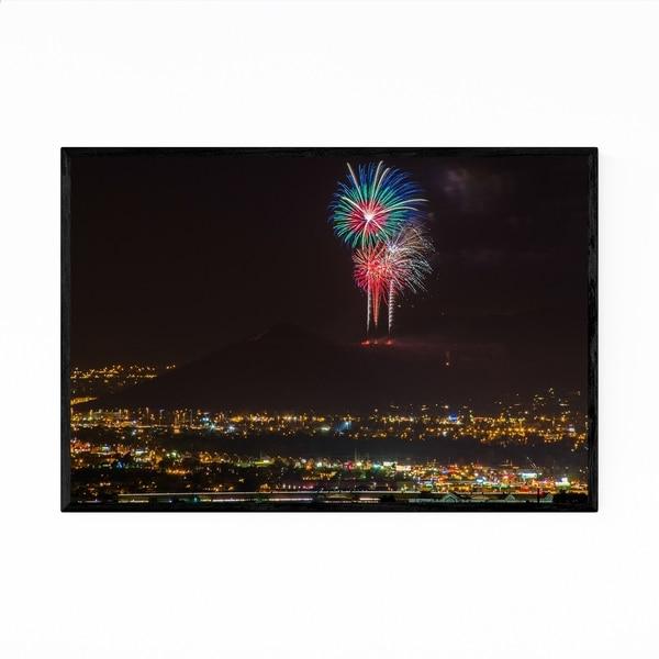 Noir Gallery Tucson Arizona Photo Fireworks Framed Art Print