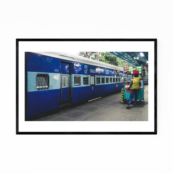 Noir Gallery India Train Station Photography Framed Art Print