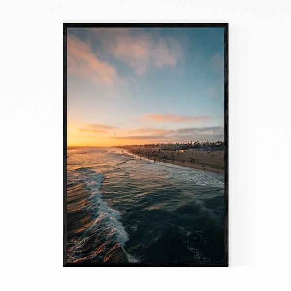 Noir Gallery Huntington Beach California Coast Framed Art Print