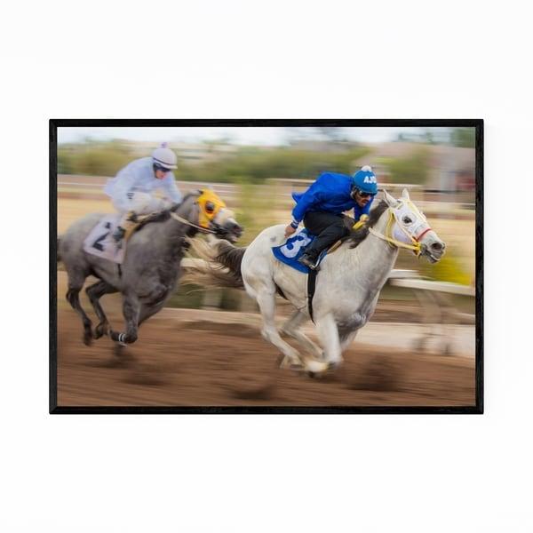 Noir Gallery Race Horse Rillito Race Track AZ Framed Art Print