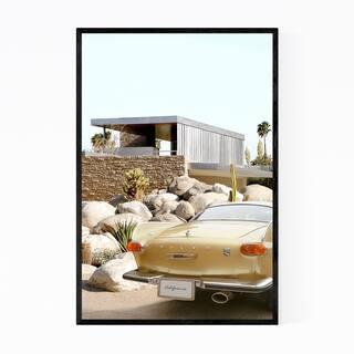 Noir Gallery Kaufmann House Car Palm Springs Framed Art Print