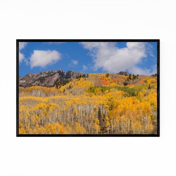 Noir Gallery Colorado Rocky Mountains Autumn Framed Art Print