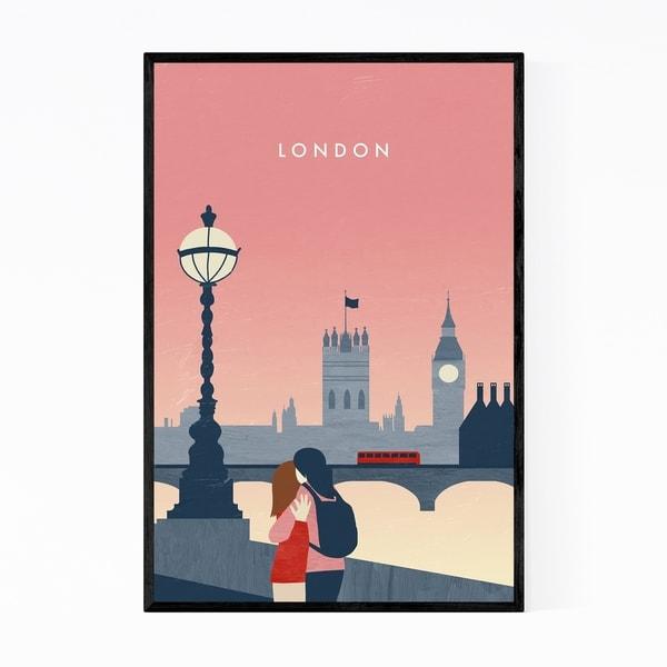 Noir Gallery London United Kingdom Vintage Travel Framed Art Print