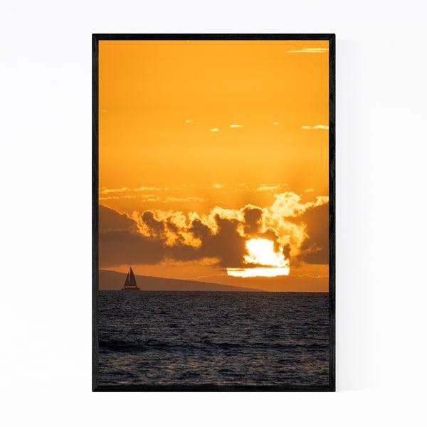 Noir Gallery Maui Hawaii Coastal Sunset Photo Framed Art Print