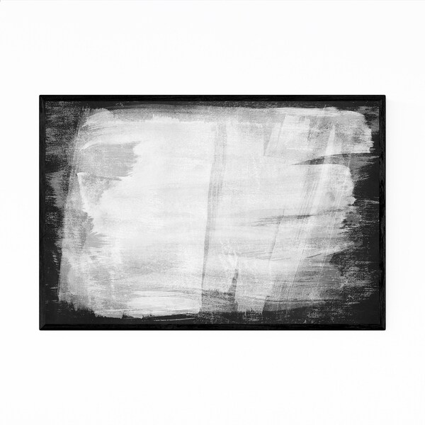 Noir Gallery Minimal Abstract Black White Framed Art Print