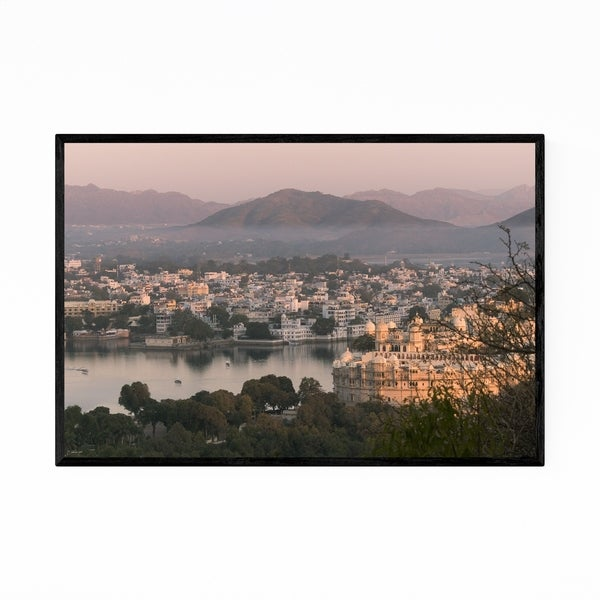 Noir Gallery Udaipur India Mountains Nature Framed Art Print