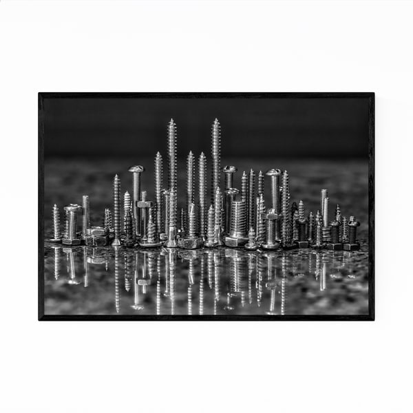 Noir Gallery Tools Screws Nails Bolts Framed Art Print