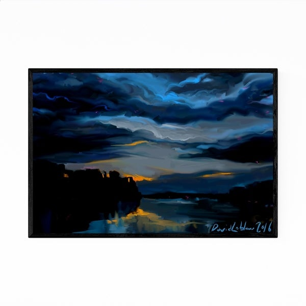 Noir Gallery Abstract Landscape Nature Painting Framed Art Print