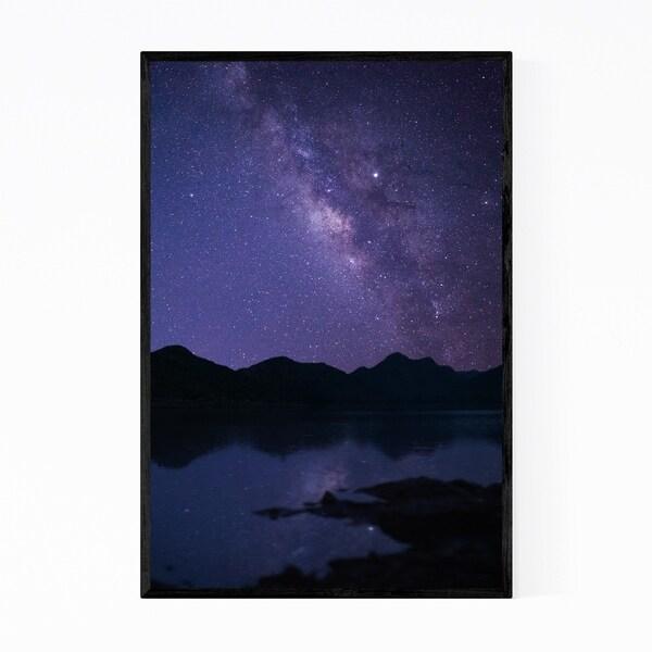 Noir Gallery Lake Badi Udaipur Milky Way India Framed Art Print