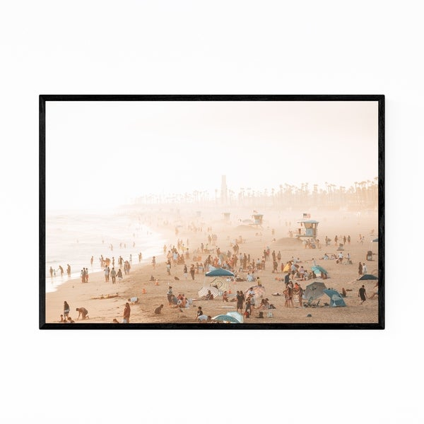 Noir Gallery Huntington Beach California Coast Framed Art Print