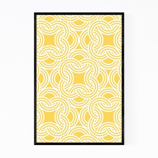 Noir Gallery Abstract Pattern Geometric Framed Art Print