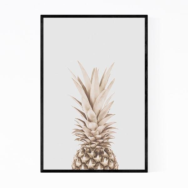 Noir Gallery Pineapple Fruit Kitchen Gift Framed Art Print