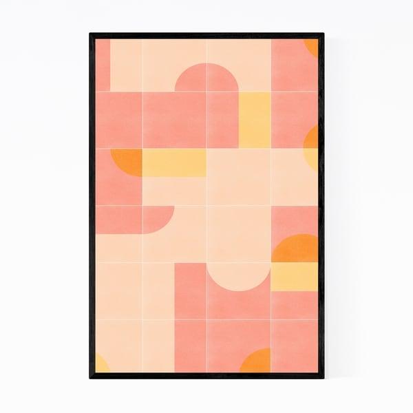 Noir Gallery Mid Century Modern Pattern Minimal Framed Art Print