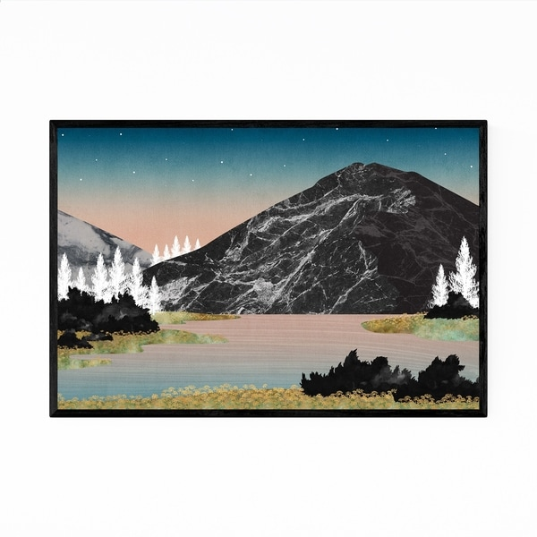 Noir Gallery Lake Mountain Landscape Nature Framed Art Print