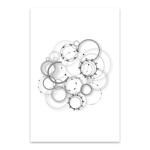 Noir Gallery Abstract Steampunk Pattern Minimal Metal Wall Art Print