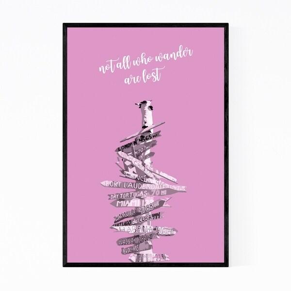 Noir Gallery Traveler Gift Wanderlust Quote Framed Art Print