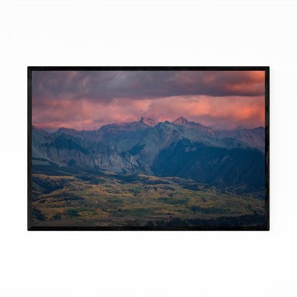 Noir Gallery Colorado Rocky Mountains Landscape Framed Art Print