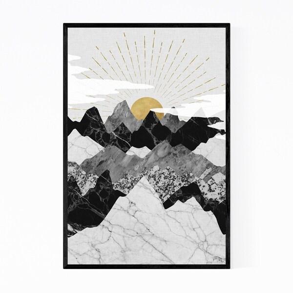 Noir Gallery Mountains Geometric Abstract Framed Art Print