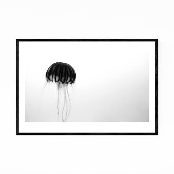 Noir Gallery Osaka Aquarium KAIYUKAN Jellyfish Framed Art Print