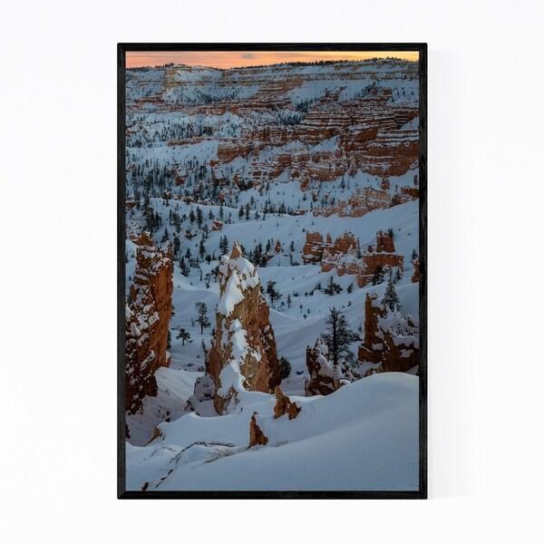 Noir Gallery Bryce Canyon Winter Utah Photo Framed Art Print
