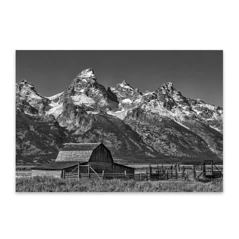 Noir Gallery Moulton Barns Teton Mountains Metal Wall Art Print